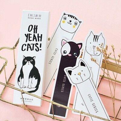 30pcs Cartoon Cat Paper Bookmark Stationery Magazine Note Pad Memo Label Student