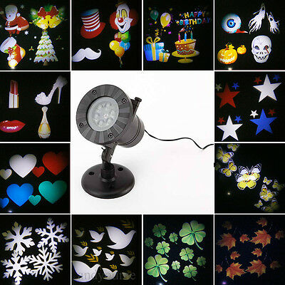 12 Pattern LED Moving Laser Projector Landscape Stage Light Xmas Party Outdoor Y