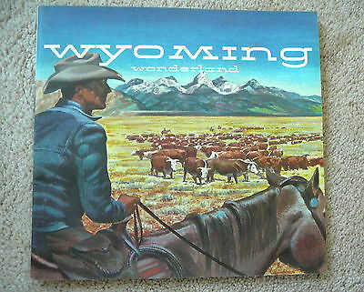 WYOMING WONDERLAND - THE COWBOY STATE - 1950s TOURIST GUIDE BOOK - EXCELLENT