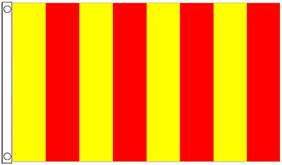 Red and Yellow Vertical Striped 5'x3' Flag