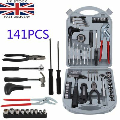 141pcs Portable DIY Home Tools Set Car Garage Garden Repair Hand Tools Kit Set S