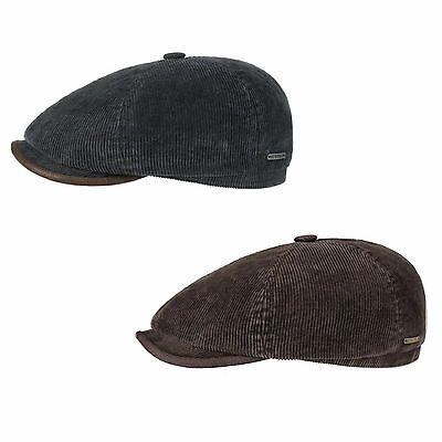 Stetson Cotton Corduroy Bakerboy/Newsboy Cap in Brown or Blue (6651104)