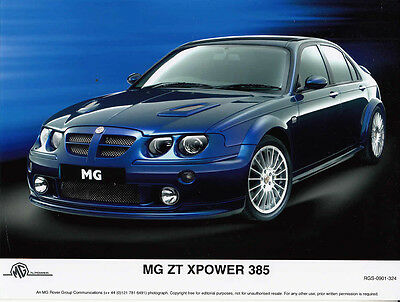 Mg Zt Xpower 385 Saloon Period Colour Photograph.