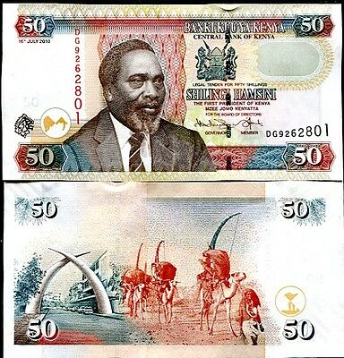 Kenya 50 Shillings 2010 P 47 Unc Lot 20 Pcs