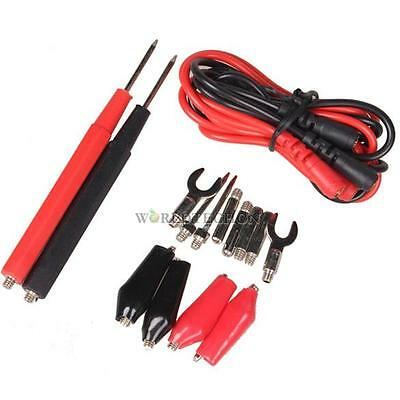 16Pcs/Set Multifunction Digital Multimeter Probe Test Leads Cable Alligator Clip