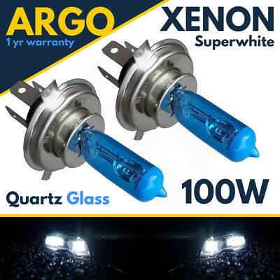 Transit Mk7 07-12 Xenon Ultra White H4 100w Halogen Bulbs 8500k (Pair) 472