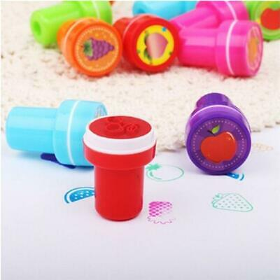 12Pcs Colorful Children Cartoon Stamp Seal Self Inking Stamps Kids Toy Gift LA