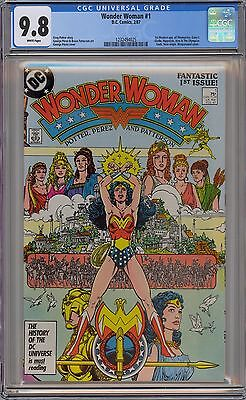 Wonder Woman #1 1987 CGC 9.8 NM/ MT White Pages George Perez artwork