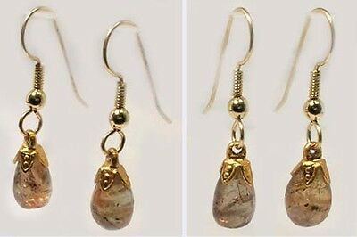 Gold Andalusite Earrings 6¼ct Multi-Color Antique 18thC Siberia Knights Templar