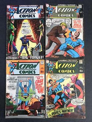 Action Comics #375 -378 EARLY 1st Print SUPERMAN Comic Lot G/VG