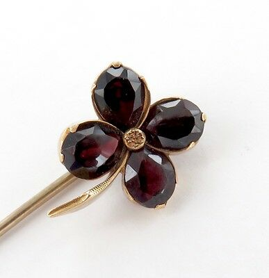 .superb / Antique / Australian 9Ct Gold & 4 Large Garnet Stick Pin.