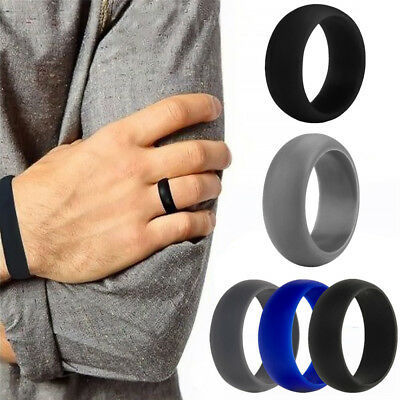 3PC Wedding Rubber Silicone Ring Band Active Sport Gym Gift Men Women Fashion