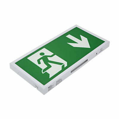 5W LED Slim Green Maintained / Non Maintained Emergency Exit Sign - Down Arrow