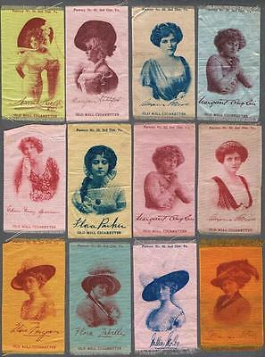 S72 Actresses Type 2 Tobacco Silks Lot of 13