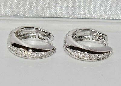 Sterling Silver (925) Ladies Huggie / Hoop Earrings