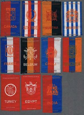 1910's Coat of Arms By American Tobacco Tobacco Silks Lot of 11