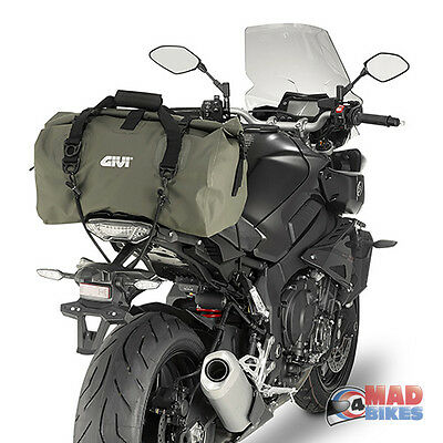 GIVI EA115KG Waterproof Motorcycle Roll Dry Tail Pack 40 Litre Luggage Bag Green