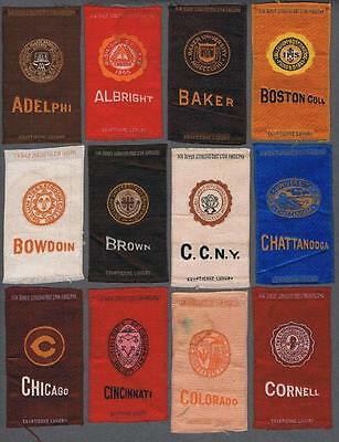 S25 College Seal By Egyptienne Luxury Tobacco Silks Lot of 54