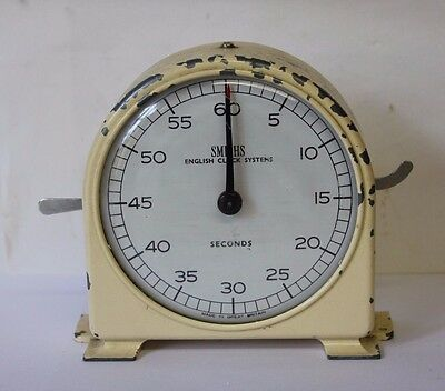Vintage Smiths English Clock Systems Darkroom Timer, Stopclock, working