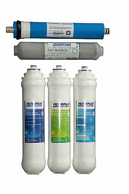 Replacement Filter Cartridge Set for FILTERPLUS CLK 100GPD Drinking Water Kits