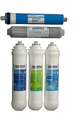 Replacement Filter Cartridge Set for FILTERPLUS CLK 50GPD Drinking Water Kits