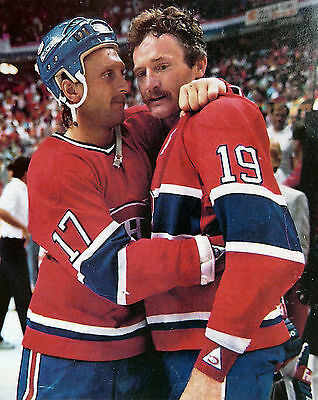 Stanley Cup Celebrate Montreal Robinson Ludwig Nostalgia Hockey Color Photo P37