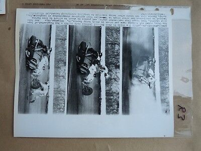Press Photo langhorne PA  1963 FATAL ACCIDENT BOBBY MARVIN race R3