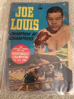 Vintage 1950 Champion Of Champions  Comic Book Joe Louis On Cover