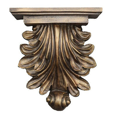 Flared Acanthus Leaf Bracket Wall Shelf Made in USA in 40 Colors