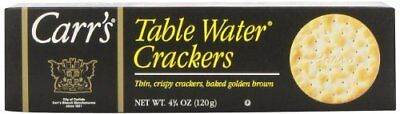 Carrs Table Water Crackers, Bite Size, 4.25-Ounce Units (Pack of 6) New