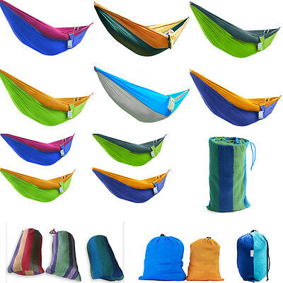 New Portable Hammock With Mosquito Net Outdoor Camping Parachute Fabric Travel