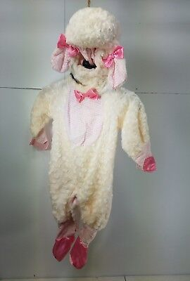 Pre Owned Rubie's Infant Baby Lamb Halloween Dress Up  Costume Size 6-12 M Y7