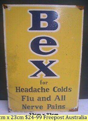 Bex For Headaches Colds And Flu Metal Sign  Freepost Australia