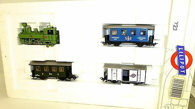 UI Steam Locomotive No5 with 3 Freight Car in the Set Liliput 723 OVP H0E Å