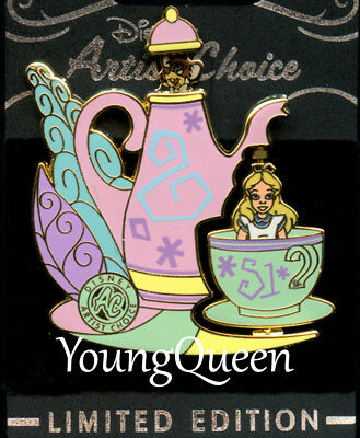 WDW Disney Artist Choice Alice in Wonderland Dormouse Mad Tea Party Spins Le Pin