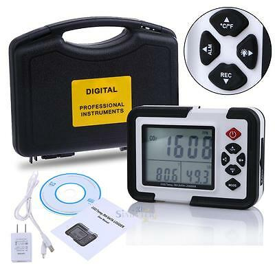 9999ppm USB Carbon Dioxide CO2 Meter Air Temperature LCD Logger Humidity Monitor