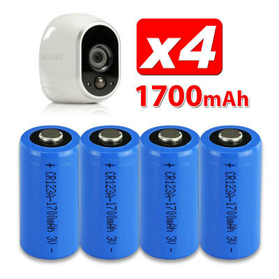 4X CR123A 3V  Battery for Netgear Arlo Security Camera VMS3330 3430 3230 3310 OZ