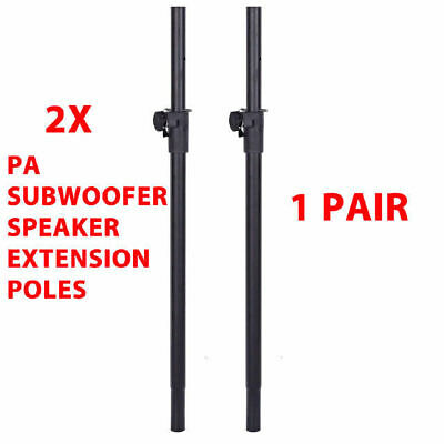 2 X DP Stage SS010 Heavy Duty PA Subwoofer Speaker Extension Poles 35mm Diameter