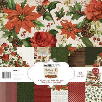 """Kaisercraft - LETTERS TO SANTA - 12x12"""" Paper Pack with Bonus Stickers - Xmas"""