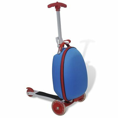 Children Blue Scooter Suitcase Multifunction Luggage Carry On Storage Trolley
