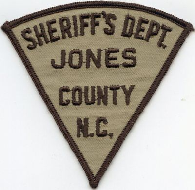 old vintage JONES COUNTY NORTH CAROLINA NC SHERIFF POLICE PATCH