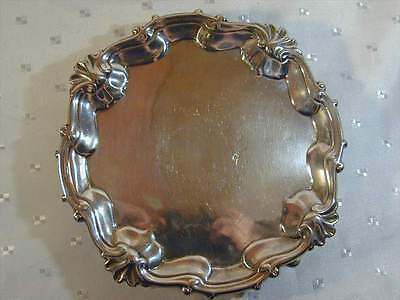 Antique George Ii Silver Salver Tray Dated 1753 Superb