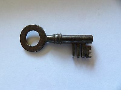 Single Georgian Warded Strong Box Type Key 3 3/8  Inch Number 3