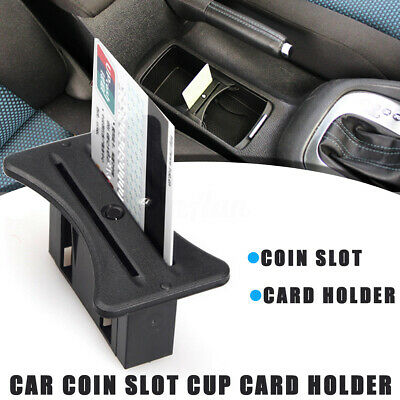 Car Cup Card Holder Coins Slot Centre Console for VW MK6 Golf GTI R20 2008-2012