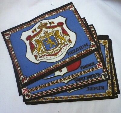 Tobacco Flannel or Felt Coat of Arms and Medals Lot of 7