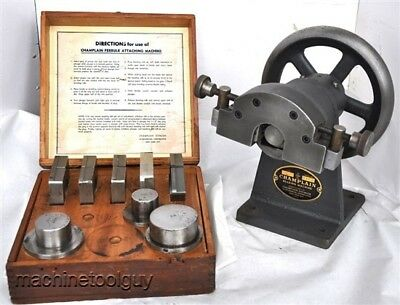 "CHAMPLAIN FERRULE BEADING / ATTACHING MACHINE with DIES & PLUGS 1.25"" - 2.5"""