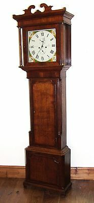 Antique Oak & Mahogany Inlaid Grandfather Longcase Clock : LEADBEATER SANDBACH