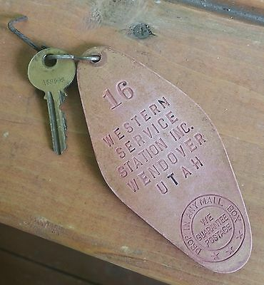 Western Motel and Service Station Wendover Utah Motel Key Fob Key Ring
