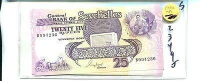 Seychelles 1989 25 Rupee  Currency Note Cu 2349J