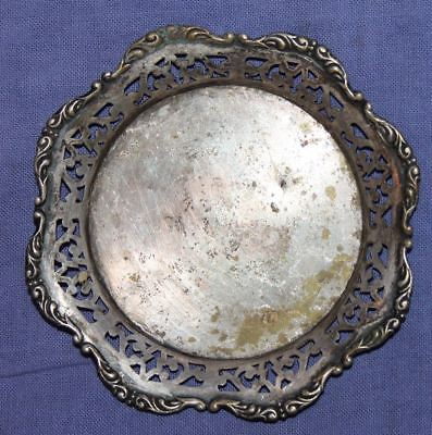 Antique Ornate Small Silver Plated Bowl